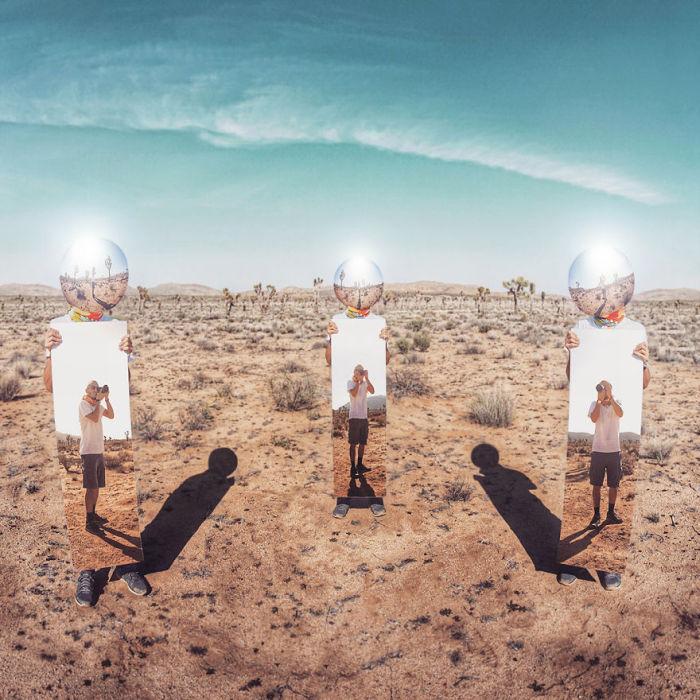 Experimental Self Portraits At Joshua Tree National Park (7 pics)