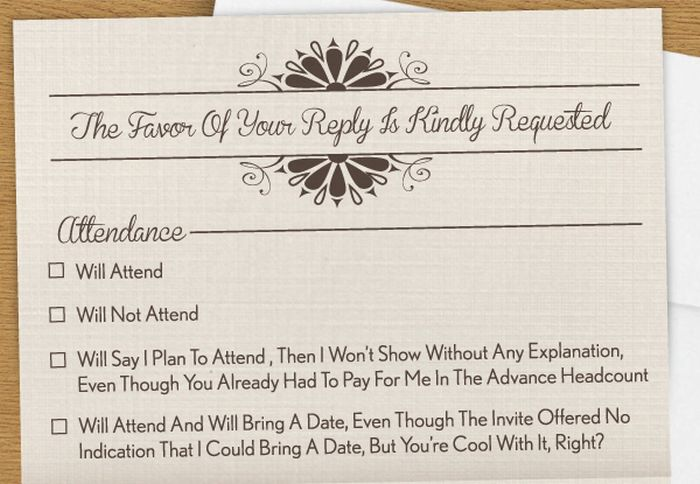 Everyone Needs A RSVP Card Like This For Their Wedding