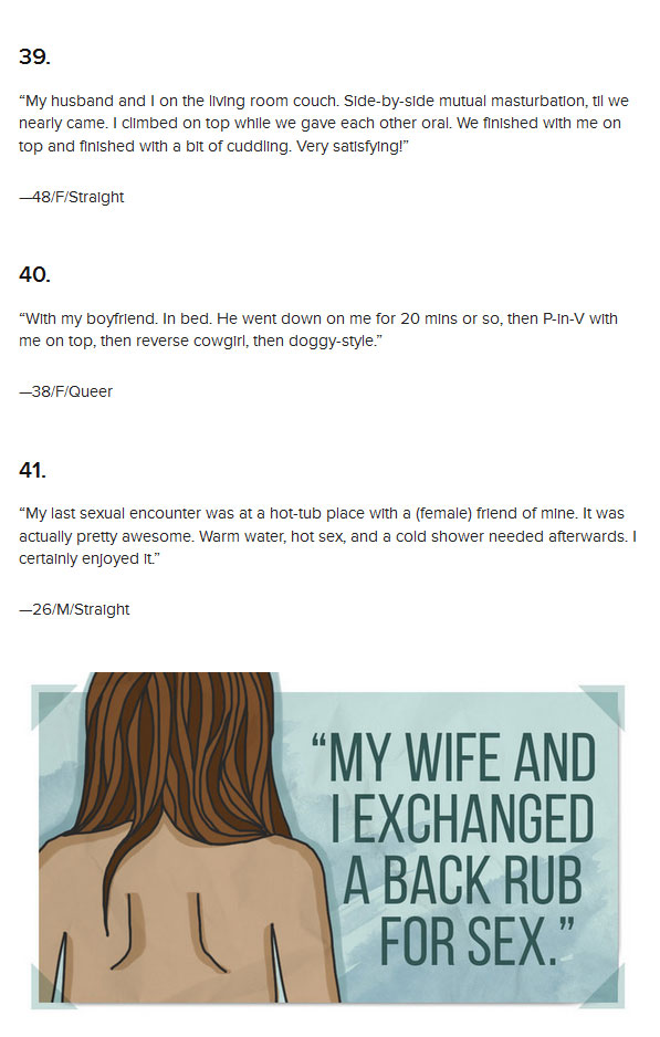 Men And Women Describe Their Last Sexual Encounters With Dirty Details (16 pics)