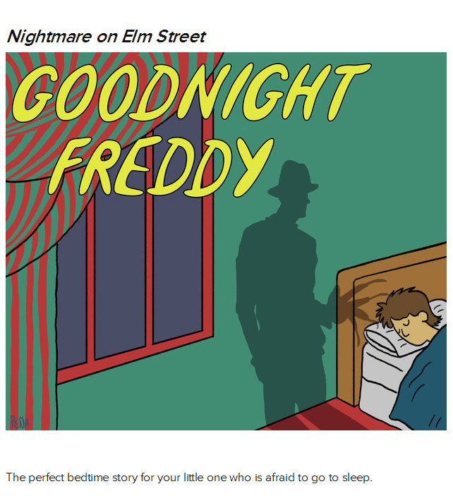 If 80s Horror Movies Were Remade As Children's Books (10 pics)
