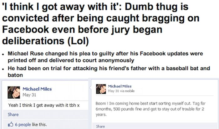 Stupid Criminals That Confessed Their Crimes On Facebook (22 pics)