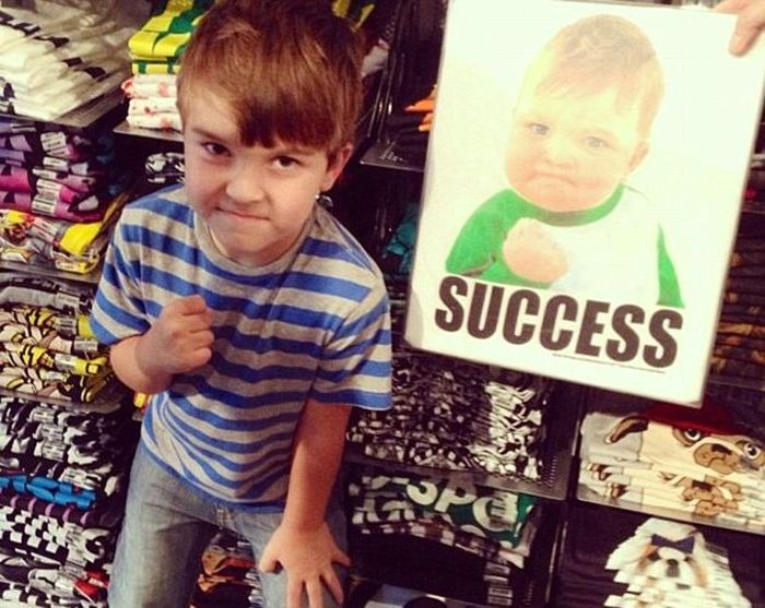 Success Kid From The Popular Meme Is Raising Money To Help His Dad (7 pics)