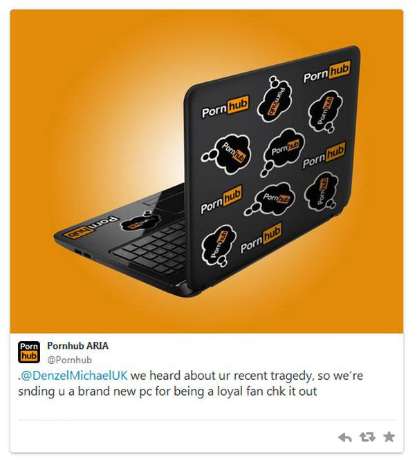 Pornhub Sends Man A New Computer After He Smashed His (2 pics)