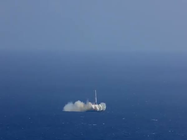 SpaceX Landing Attempt Ends In Explosion