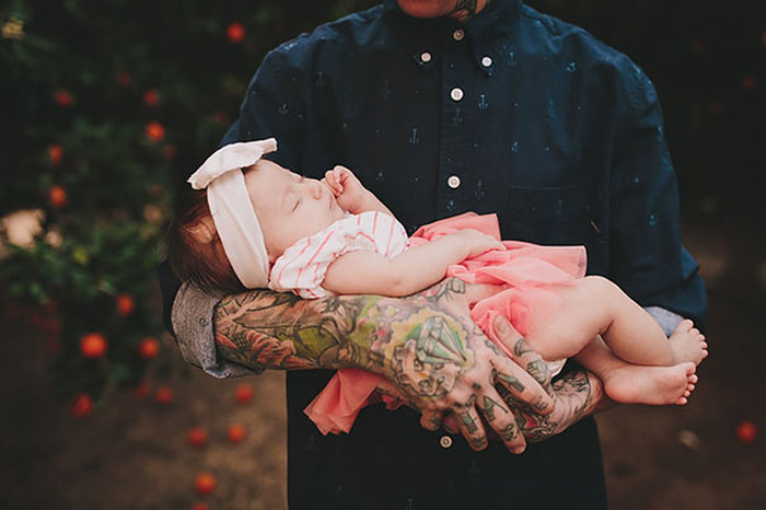 Tattooed Parents Take Beautiful Portraits With Their Children (43 pics)