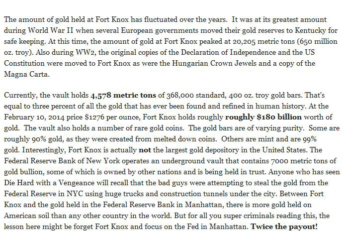 How Much Gold Is Currently Being Stored In Fort Knox? (7 pics)