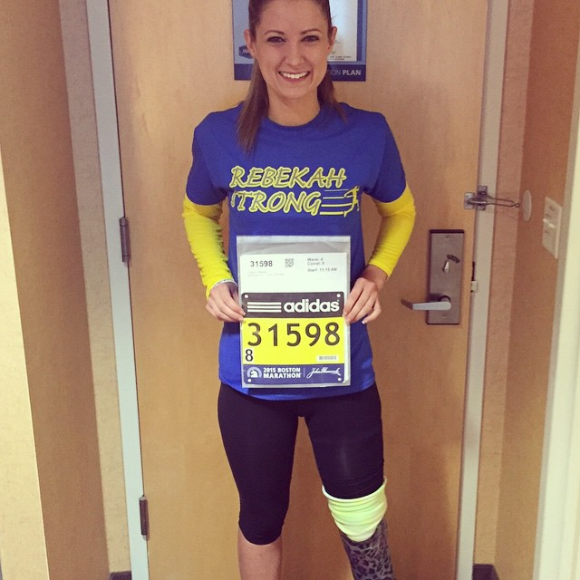 Boston Bombing Survivor Hits The Ground Running To Finish The Race (5 pics)