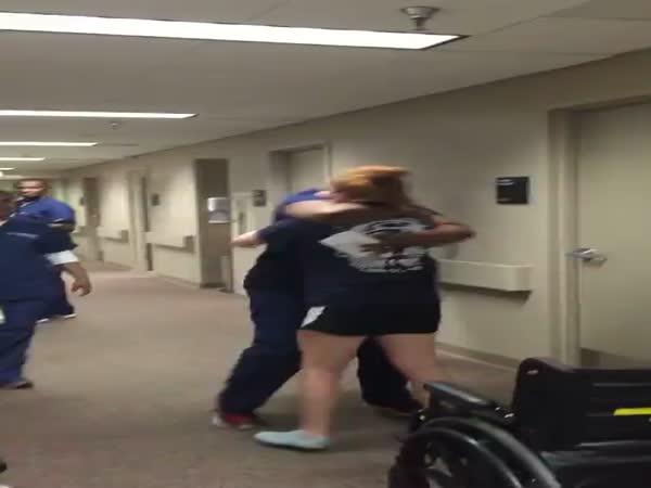Girl Surprises Nurse