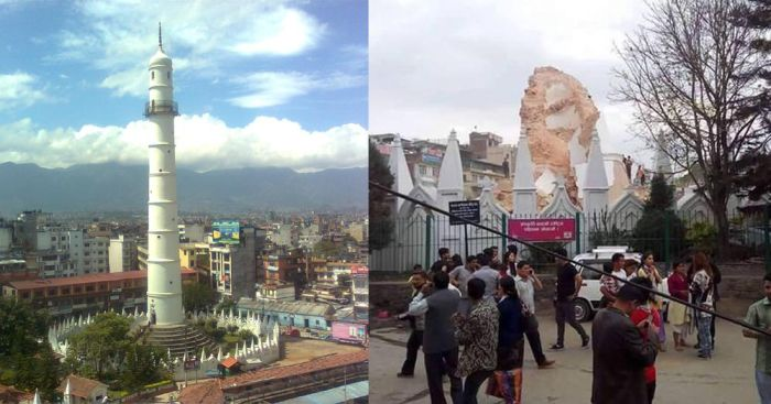 Before And After Photos Of Nepal Show The Effect Of A Deadly Earthquake (5 pics)