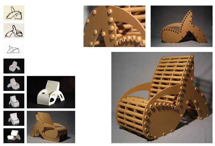Man Creates The Perfect Chair Out Of Cardboard (17 pics)