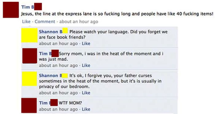 Those Moments When Your Family Embarrasses You On Facebook (23 pics)