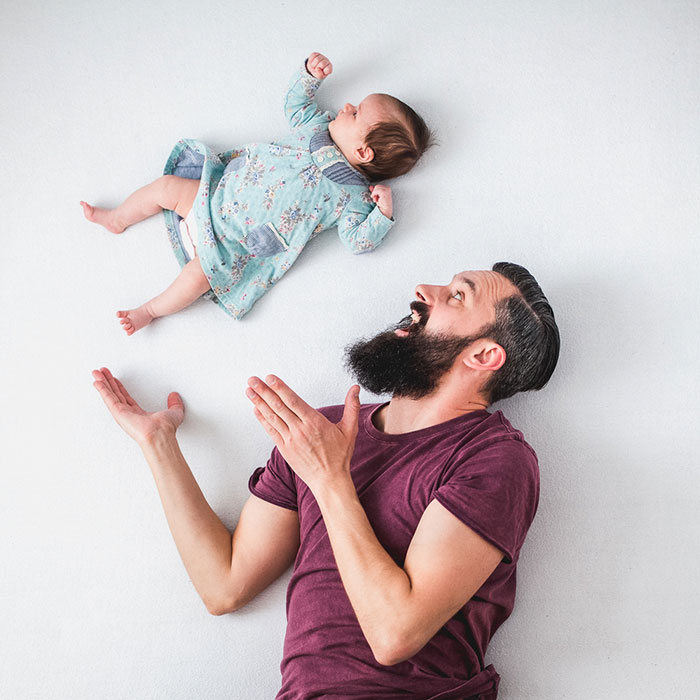 Creative Photoshoot Takes Father Daughter Pictures To The Next Level (9 pics)
