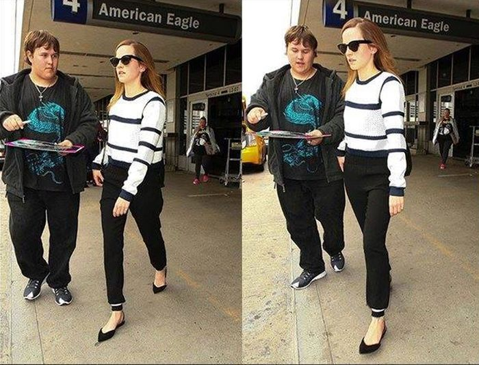 Emma Watson Snubs A Fan At The Airport (2 pics)