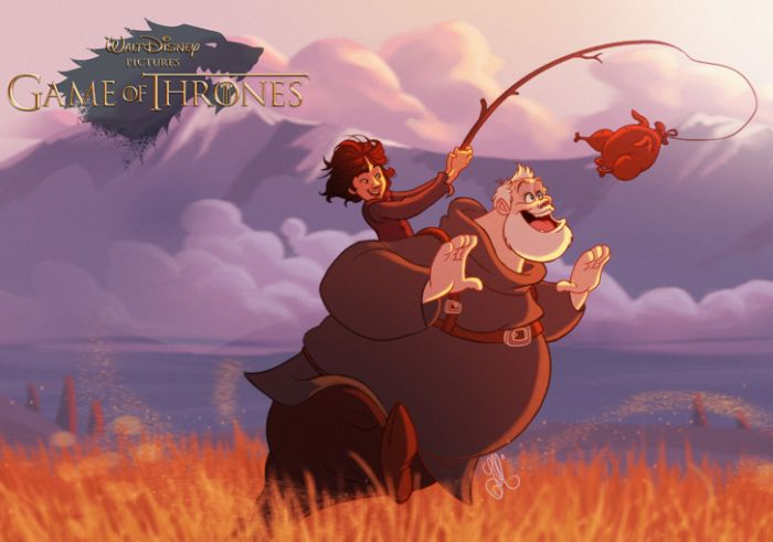 If Game Of Thrones Characters Appeared In Disney Movies (10 pics)