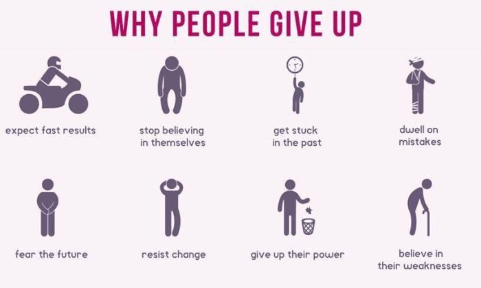 The Most Common Reasons Why People Give Up