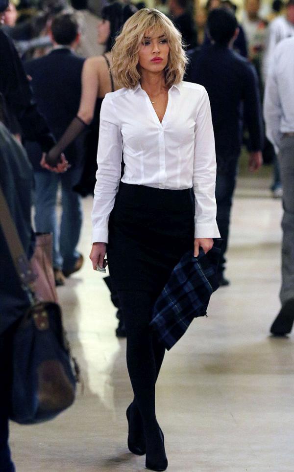 Megan Fox Goes Blonde For New Teenage Mutant Ninja Turtles Movie (6 pics)