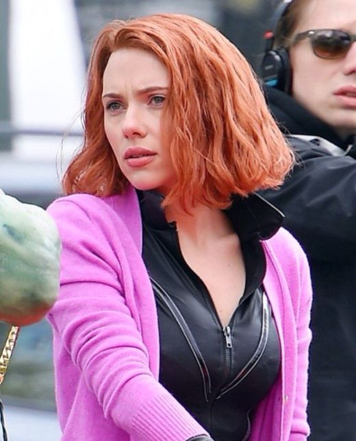 Behind The Scenes Pictures Of Scarlett Johansson As Black Widow (7 pics)