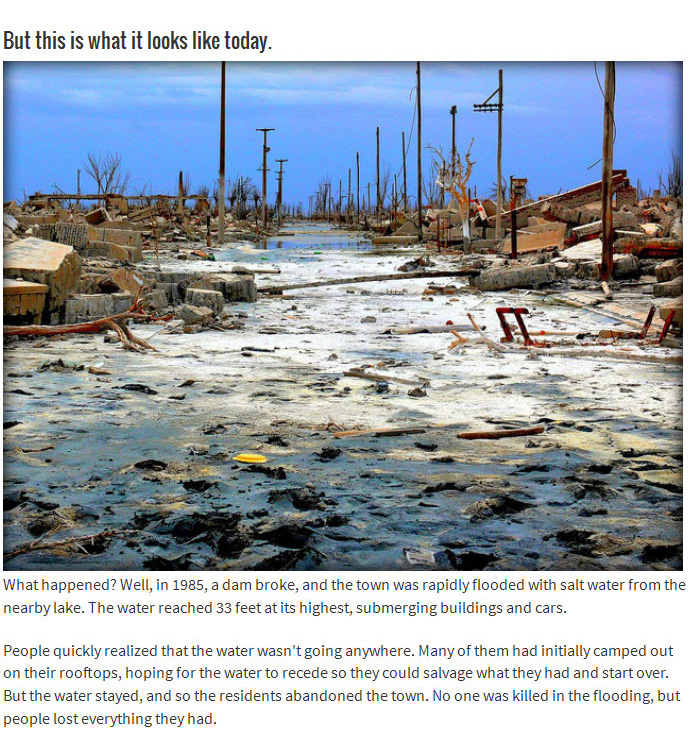 This Town Was Once Beautiful Until It Was Flooded (8 pics)