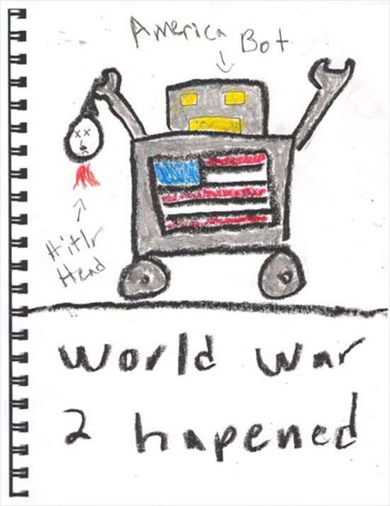 What It Looks Like When A 5 Year Old Explains The History Of America (7 pics)