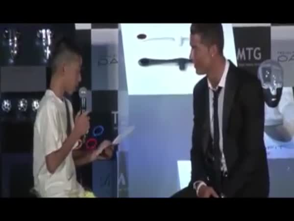 Cristiano Ronaldo Defends Japanese Kid On TV