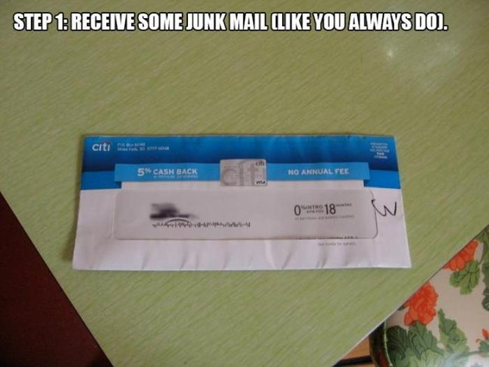 The Best Way To Deal With Junk Mail (5 pics)