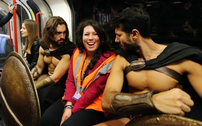 What It Looks Like When Spartan Warriors Ride The Subway (10 pics)