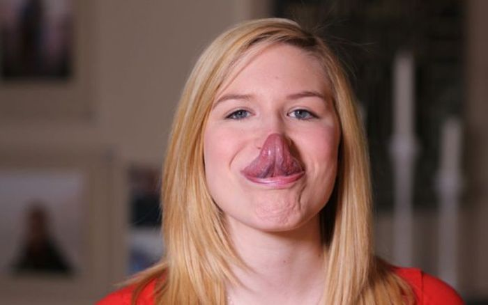 This Girl Has A Tongue That Could Set A World Record (12 pics)