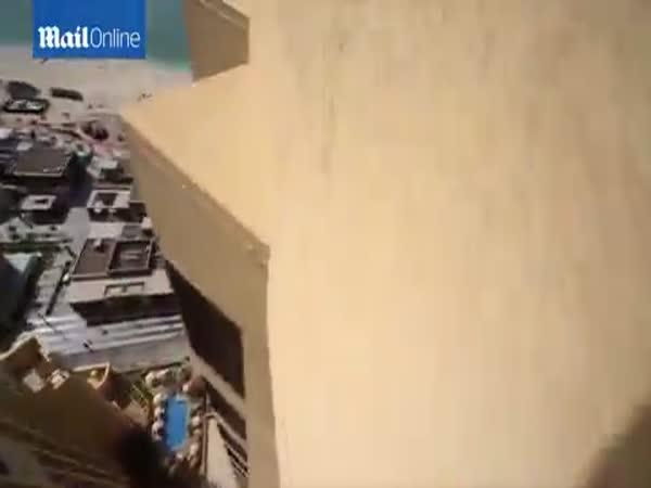 Freerunner Jumps On The 43rd Floor