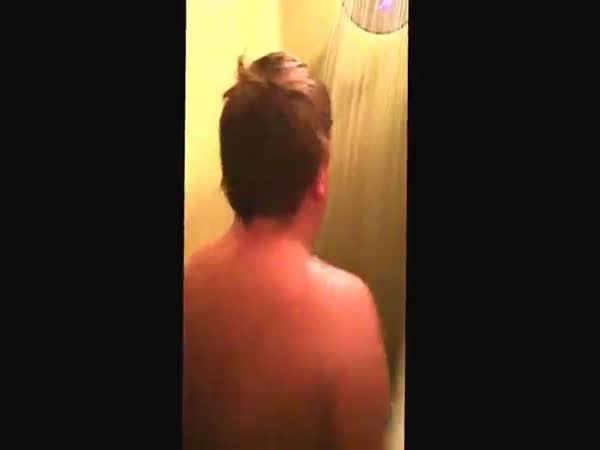 Boy Dancing In The Shower