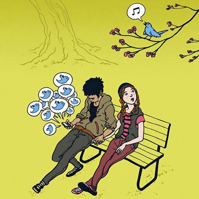 Clever Cartoons Show How Addicted People Are To Smartphones (27 pics)