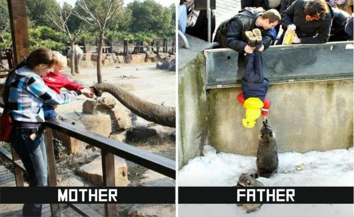 10 Big Differences Between How Mothers And Fathers Take Care Of Kids (10 pics)