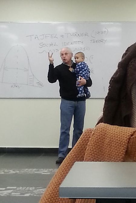 Professor Saves The Day For One Of His Students (3 pics)