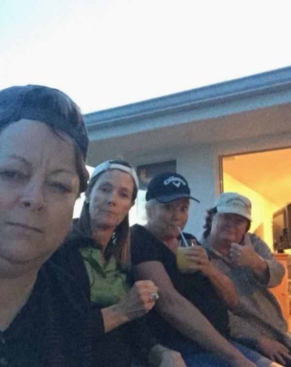 Moms Mock Their Son's Dodger Game Selfie (2 pics)