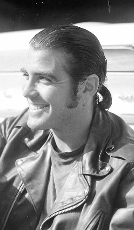 a young george clooney had long hair and sideburns in 1989 14 pics. Black Bedroom Furniture Sets. Home Design Ideas