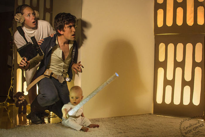 Creative Parents Recreate Famous Movie Scenes With Their Baby Boy (25 pics)