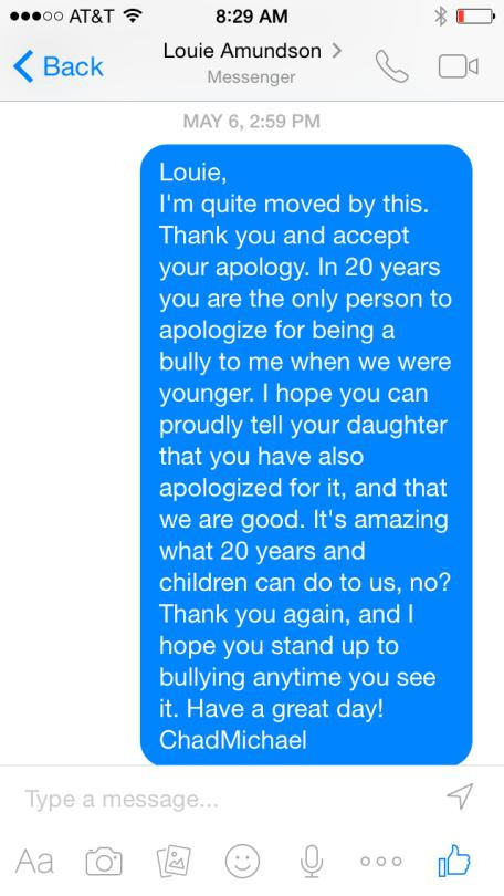 School Bully Apologizes To His Victim After 20 Years  (3 pics)