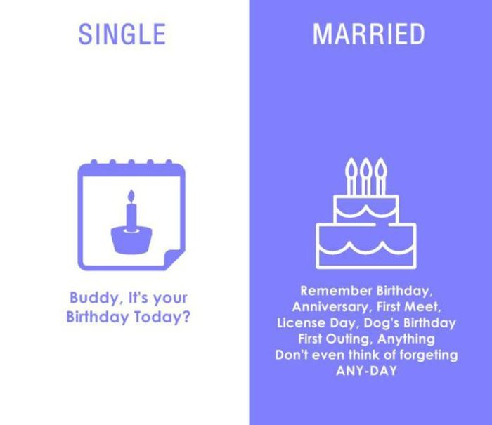 These Diagrams Sum Up The Differences Between Married Life And Single Life (8 pics)