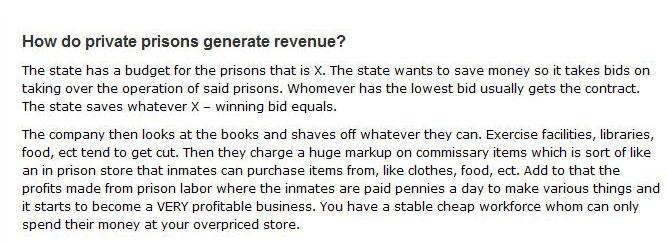 How Private Prisons Create Revenue (2 pics)