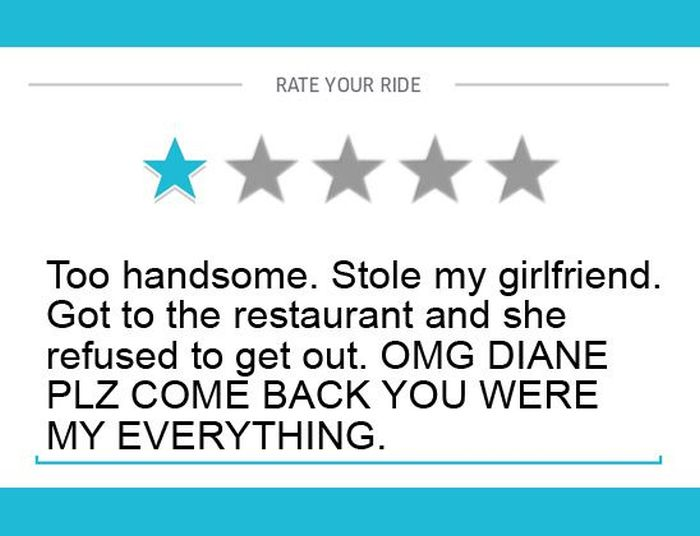 One Star Uber Reviews That Are Absolutely Hilarious (12 pics)