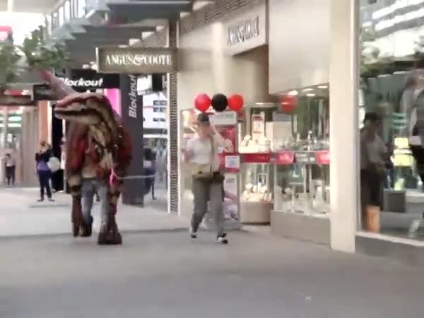 Dinosaur In The Street