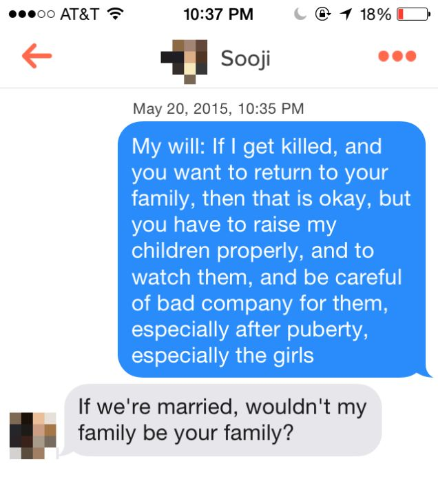 Man Uses Osama bin Laden's Love Letters To Troll On Tinder (11 pics)