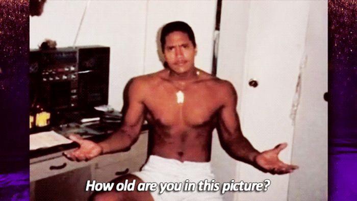Dwayne Johnson When He Was 15 (7 gifs)