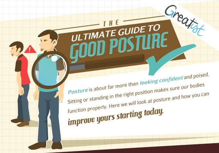 This Guide Will Help You Improve Your Posture (infographic)