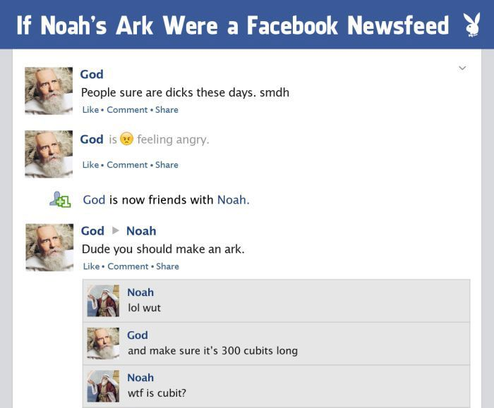 If Noah's Ark Happened On The Facebook Newsfeed (5 pics)