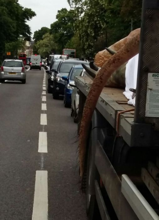 Why Is There A T-Rex On The Back Of A Truck In London? (10 pics)