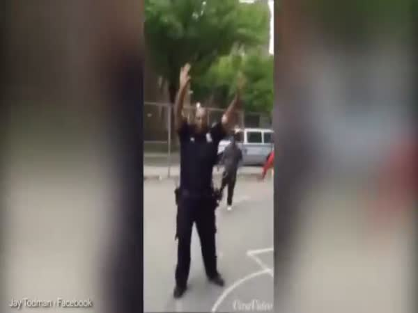 Police Officer Plays Basketball