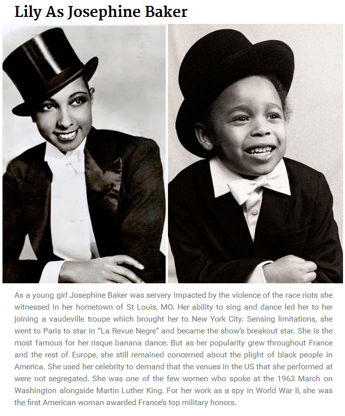 5 Year Old Girl Recreates Photos Of Famous Women From History (12 pics)