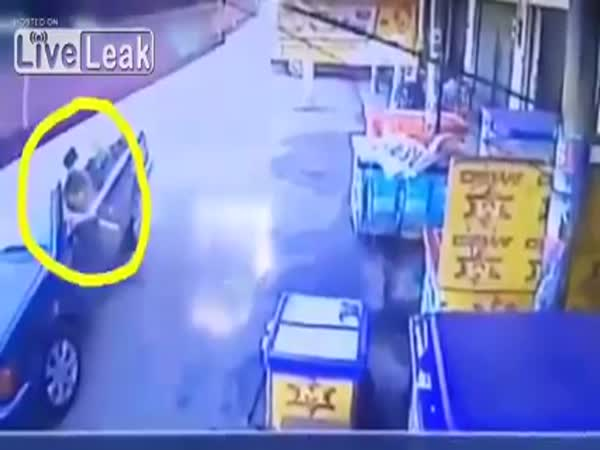 Woman Miraculously Escaped