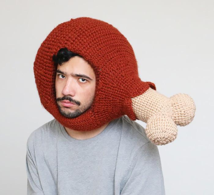 Phil Ferguson Crochets Delicious Looking Food Hats (16 pics)