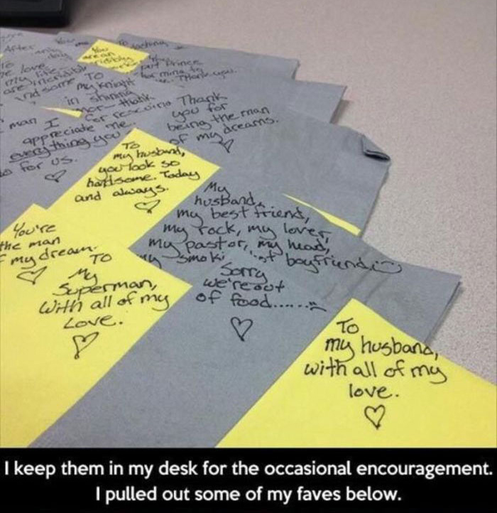 This Man Gets The Sweetest Lunch Box Notes From His Wife (4 pics)